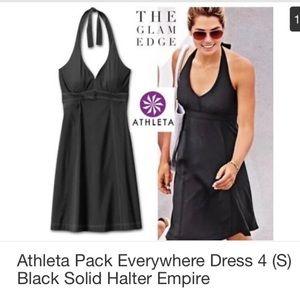 "Athleta ""pack everything dress"" halter quick-dry"